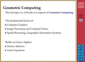 Geometric Computing (1)