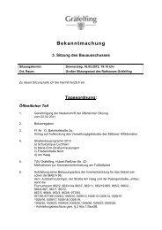Bauausschuss der Gemeinde Gräfelfing - Wuermtal.Net