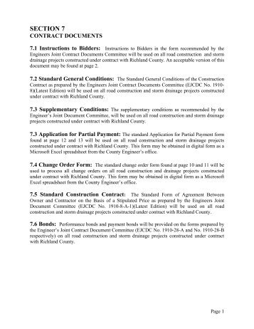 Contract Documents - Richland County