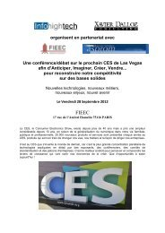 CES 2013 de Las Vegas afin d'Anticiper, Imaginer, Créer ... - Asprom