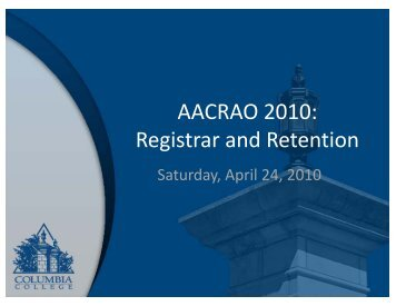 Registrar and Retention - AACRAO