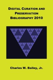 Digital Curation and Preservation Bibliography 2010 as an open ...