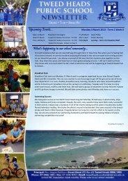 Term 1 Week 6 04.03.13 - Tweed Heads Public School