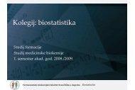 FBF statistika P1 mP.pdf - Medicinski fakultet Rijeka