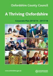 Oxfordshire County Council Corporate Plan 2013/14