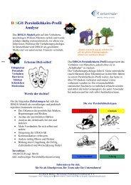 DISG® Persönlichkeits-Profil- Analyse - Reiner Klee