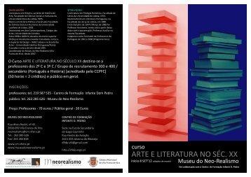 ARTE E LITERATURA NO SÉC. XX - Câmara Municipal de Vila ...