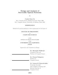 Design and Analysis of Survivable Optical Networks - Networks Lab ...