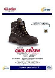 Lagerprogramm 2010 - Carl Geisen