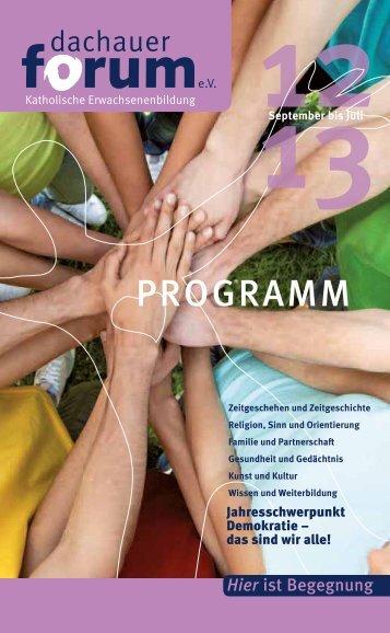 PROGRAMM - Dachauer Forum