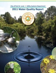 2011 Water Quality Report | Utility Systems - City of Port St. Lucie