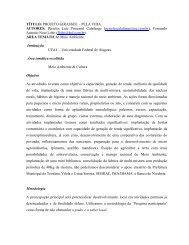 TÍTULO: PROJETO GIRASSOL – PELA VIDA AUTORES ... - PRAC