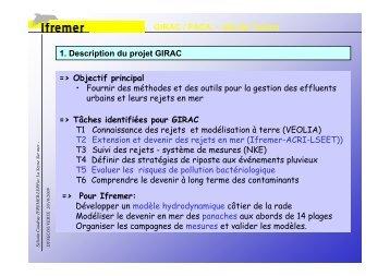 GIRAC / PACA - site de Toulon 1. Description du projet ... - Ifremer