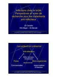 perspectives et voies de recherche pour les traitements ... - SFETB