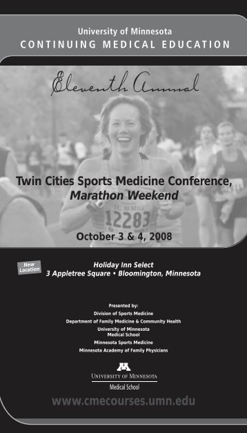 Sports Med Brochure 08 - University of Minnesota Continuing ...