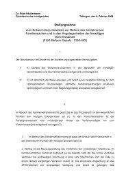 Stellungnahme zum Entwurf eines Gesetzes zur Reform des ...