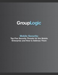 Download the White Paper Here - GroupLogic