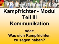 KR III - Kommunikation
