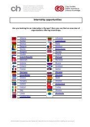 Internship opportunities - chstiftung.ch Go