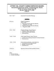 Agenda 09/15/2008 - Otter Tail County