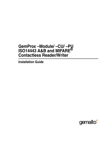GEMALTO PROX-PU DRIVERS FOR MAC DOWNLOAD