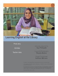 Learning English at the Library - Winnipeg Public Library