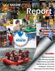 Inside: - Morale, Welfare & Recreation Home Page