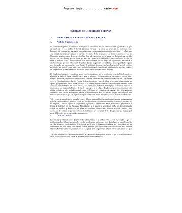 Capítulo III: labores de defensa - Especial de nacion.com sobre el ...