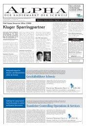 Kluger Sparringpartner - Tagesanzeiger e-paper - Tages-Anzeiger