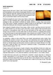 ANO 108 Nº 08 21.02.2010 - Comunidade Evangélica Luterana ...