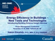 Energy Efficiency in Buildings – New Tools and Technologies