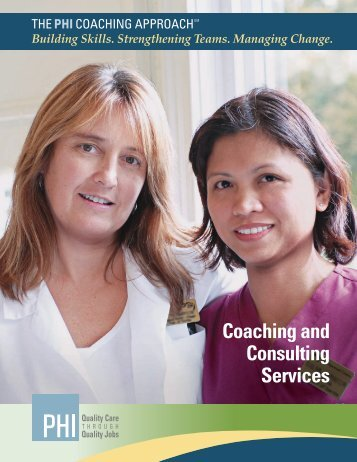 Coaching and Consulting Services - PHI