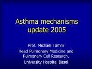 Asthma: Von der Molekularbiologie zur Klinik