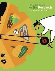 2011 ANNUAL REPORT - AgBioResearch - Michigan State University
