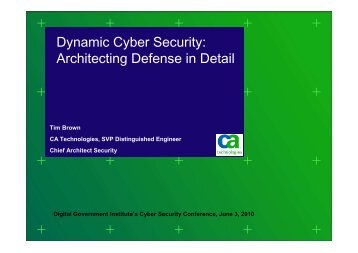 Dynamic Cyber Security - Digital Government Institute