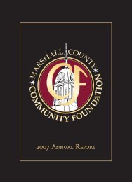 2007 Annual Report - Marshall County Community Foundation