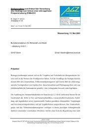 Stellungnahme zum Entwurf der Verordnung über Beiträge ... - AGZ eV