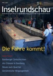 Die Fähre kommt! - Bürgerverein Bamberg-Mitte eV