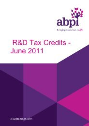 R&D Tax Credits - Association of the British Pharmaceutical Industry