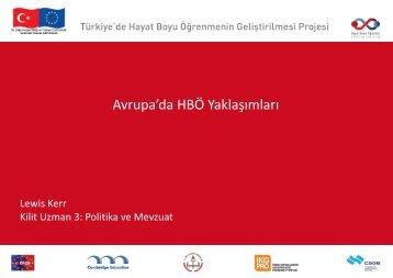 Avrupa'da HBÖ Yaklaşımları-Proje Kilit Uzmanı Lewis Kerr