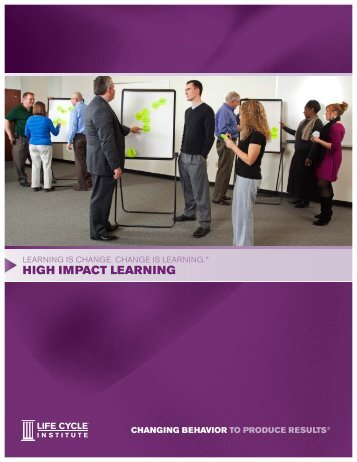 introduction to high iMpact learning - Life Cycle Engineering