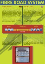 fibre road system - Audio-Service