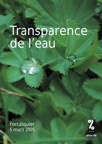 transparence de l'eau - Contacter un comité local d'Attac