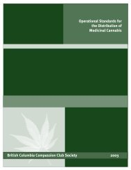 Operational Standards for the Distribution of Medicinal Cannabis ...
