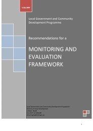 M & E Framework LGCDP