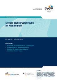 26.02.2014 Sichere Wasserversorgung im Klimawandel (PDF, 123 KB)