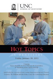 HOT TOPICS - UNC School of Dentistry - The University of North ...