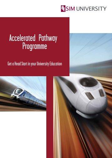 UniSIM Accelerated Pathway Programme Flyer - SIM University