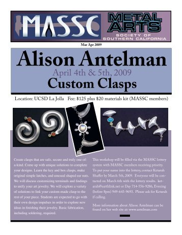 Custom Clasps - The Metal Arts Society of Southern California ...