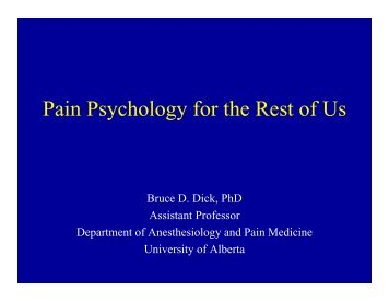 Session 106 - Dick - The Canadian Pain Society